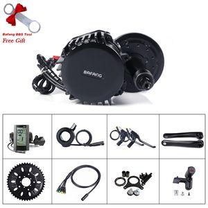 Bafang 8fun BBSHD 52V 1000W pedaleiro 68 milímetros Bicicleta elétrica Kit Mid Crank Motor com Display ferramenta de instalação eBike Central Motor Kit