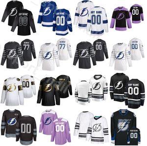 Пользовательское название 2020 хоккей на льду 27 Ryan McDonagh Jersey Tampa Bay молния 13 Cedric Paquette 23 Carter Verhaeghe 81 Erik Cernak 100-летие