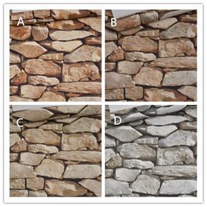 10Mx 53см водонепроницаемый Vintage 3D Эффект камня обоев Современный Сельский Реалистичные искусственный камень текстуры Винил ПВХ Бумага стены Home Decor
