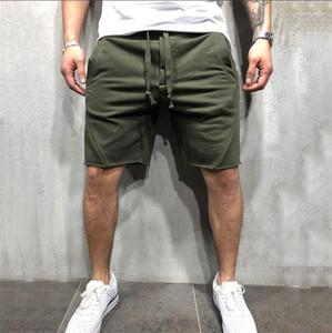 Yaz Kısa Pantolon Katı Renk Koşu Giyim Hip Hop Spor Eisure Koşucular Sweatpants Gymlocker Mens Tasarımcısı