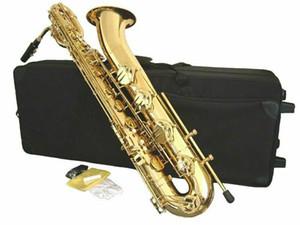 YANAGISAWA 새로운 바리톤 색소폰 황동 골드 래커 E 플랫 악기 색소폰 무료 배송 마우스 피스 캔버스 케이스 포함