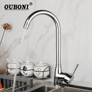 Weboni Stainless Steel Wash Basin Faucet Chrome police Patchen Mounted Kitchen Tap Stream Spout Mixer Faucet T200423