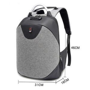 Mens Oxford anti-roubo Mochila Mochila Escolar Negócios Casual Viagem Laptop Bags com Porta Carregador USB À Prova D 'Água Bolsa de Ombro Bolsa Mochila