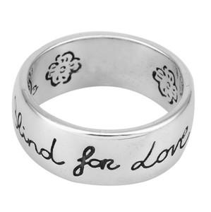 사랑의 럭셔리 디자이너 보석 gg를위한 블라인드 925 여성 반지 남성 패션 스털링 실버 커플 링 약혼 결혼 빈티지 반지