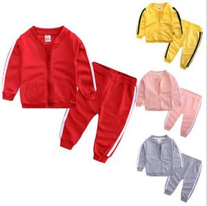 2019 Bebê Meninos Meninas Moda Casual Sportwear terno de duas peças (casaco + jeans) Conjuntos de Roupas Crianças crianças terno boutique roupas Outfits Treino