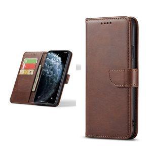 Porte-cartes porte-monnaie de mode avec porte-étui en cuir TPU pour téléphone mobile universel flip portefeuille d'affaires anti-chute couvercle de protection