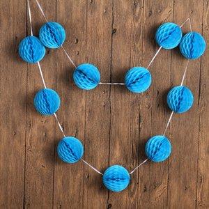 """Il nuovo disegno 7ft 11pcs * 3 """"decorazioni doccia / Set Mint Green Piccolo Carta velina Honeycomb sfera Garland matrimonio estivo per bambini"""