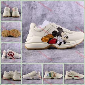 Gucci Tasche nova Rhyton sapatilha com Boca Lip Imprimir Sneakers NY Yankees Mulheres xshfbcl Luxo Plataforma sapatos de grife sapatos Mens Moda Vintage Oversize