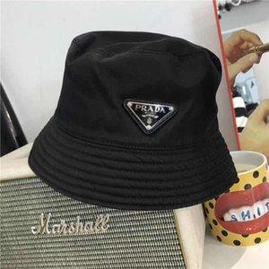 Diseñador de la marca de cubo sombreros de algodón reversible plegable de Sun Hat para adultos para mujer para hombre poco voluminoso Beach Caps del borde de la pesca deportiva viseras