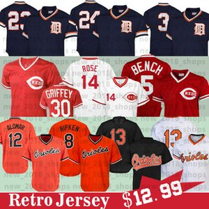 23 Kirk Gibson 24 Miguel Cabrera 3 Alan Trammell 14 Pete Rose 11 Barry Larkin 19 Joey Votto Baseball Jerseys