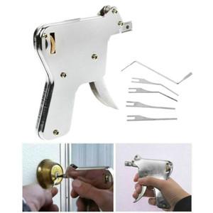 6 pcs bloqueio picareta conjunto porta colisão tecla locksmith ferramentas ferramenta ferramenta de mão abridor de ferramentas de reparação de cadeado