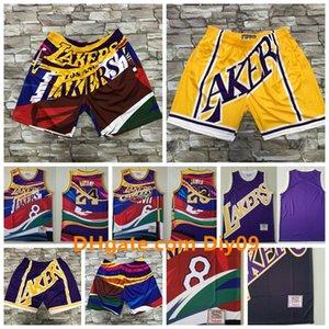 Vintage Los AngelesLakersBasketball Shorts Jersey Big Face 23 LeBronJames24BryantMixed Mitchell Ness Jerseys