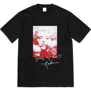 Sureme 2020 Yüksek Kaliteli Madonna İmza tişört Erkekler Kadınlar Çiftler Tees% 100 Pamuklu T gömlek erkekler