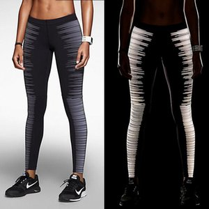 JIGERJOGER woman fitness pants tight elastic high Rise Fast dry skinny Night jogging jeggings reflective tight running Leggings T200326
