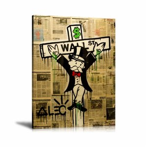 Alec Monopoly Exile On Wall Street 2-1,HD Canvas Printing New Home Decoration Art Painting (Unframed Framed)