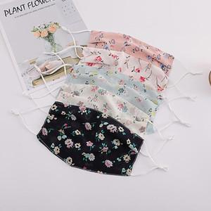 Chiffon Masken mit Blumenmustern Breathgesichtsmaske wiederverwendbare, Sonne, Sommer Anti-Staub-Schutz Gesicht Mundmasken Leicht Waschbar Maske YP740