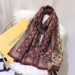 Mode Frauen-Schal Peach Blossom Druck weich lang Verpackungs-Schal 2019 neue Dame-Chiffon-Schal-Schal