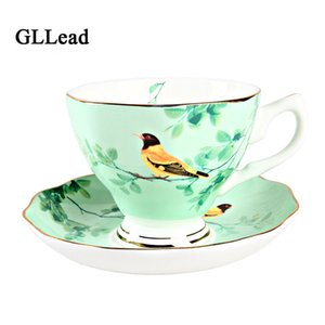 Großhandel European Ceramic neue Art-Kaffeetasse Untertasse Set Teacup Porzellan Fashion Bone China Tea Cups Kreative Startseite Trinkgefäße