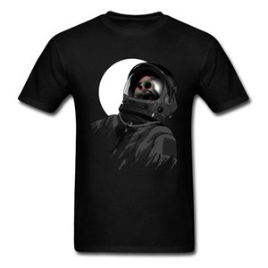 Dead Spaceman Astronaut Skull Funky 2019 Man T Shirt Black Tee Short Sleeve Cotton Top Vintage Style Hipster Tops Cool T Shirt