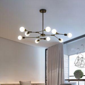 Creative magic bean chandelier lights for restaurant bar villa living room bedroom vintage  black pendant lighting led hanging lamps