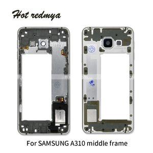 A310 2016 Mittlerer Rahmen für Samsung Galaxy A3 A310 A310F 2016 Mittlere Platte Metallblende Gehäuse mit seitlichem Schlüsselteil