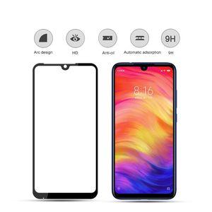 Закаленное стекло экран протектор для Xiaomi реого 7 Примечания 7 Примечания 7 Pro Примечания 7S 7А Закаленное стекло экрана протектора с черными шелковыми печатями