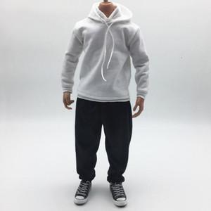 1/6 Skala-Puppe-Kleidung für 12-Zoll-Action-Figur Körper 1/6 Männerkleidung (Hoodies + Pant) Fits für Phicen / TBLeague, JIAOUDOLL