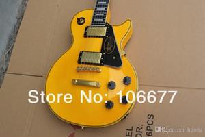 Coutume Randy Rhoads Signature Ebène Binder jaune d'or chantourner Guitare électrique Grover gratuit Shippingk