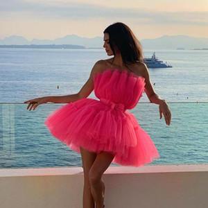 Missord 2019 Kadınlar Seksi Kapalı Omuz Mesh Mini Elbiseler Kadın Backless Seksi Kısa Elbise FT19519