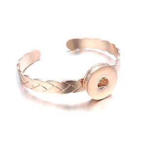 Moda braccialetto intercambiabile Ginger Copper Bangle 097 18 millimetri con bottone a pressione Charms BraceletBangles For Women Jewelry Gift