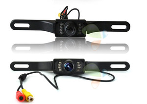 New Waterproof Long License Plate Frame Color CMOS Car Rear View Camera For Reverse Parking camera With 7 LED IR Night Vison