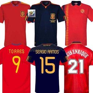 1994 2010 camiseta retro de Spani 1994 Copa del Mundo de España Jersey RAUL XAVI ABELARDO LUIS ENSRIQUE JOAQUIN ALONSO