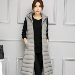 Hot Selling Women Cotton Jacket Down Vest Women Thin Hooded Waistcoat Sleeveles Jacket Female Outwear Autumn Winter Girls Casual Sport Vests