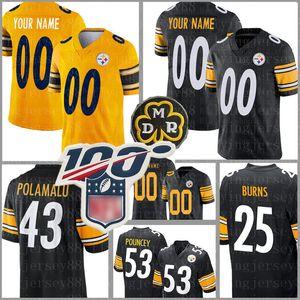 Pittsburgh personalizzatoSteeler Jersey 89 McDonald 12 Bradshaw 43 Polamalu 32 Harris 83 Miller 58 Lambert 25 Burns 5 Dobbs Maglie