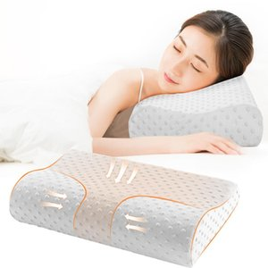 100% New Soft Pillow Massager de Atenção à Saúde do colo do útero Memory Foam Pillow Ortopédico Almofadas Latex Neck Pillow Fiber recuperação lenta