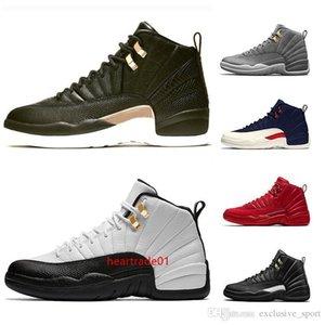 Xii 12 di pallacanestro del Mens Scarpe da uomo 12s Midnight Black Flu gioco Michigan Taxi Uny Winterize Designer Vendita Trainer Sport Sneaker in linea
