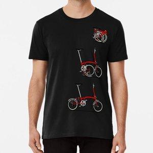 Eu amo meu Folding Brompton bicicleta T bicicletas bicicletas camisa bicicleta ciclo o ciclismo da bicicleta FIXIE fixo engrenagem do vintage