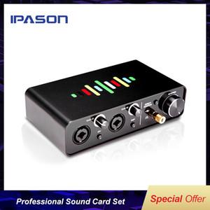 IPASON SOLO-C Tarjeta de sonido Conjunto rojo del ancla de grabación profesional Canto Telefonía Informática Mobile Live USB Show universal