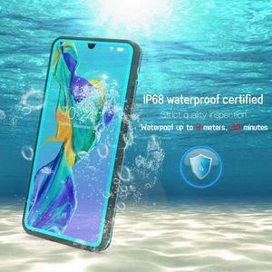Yeni Yüksek Kaliteli Tam Vücut Korumalı Su Geçirmez Telefon Caes Mühürlü Darbeye Dirtproof Telefon Kapak Için Huawei P30 Pro Mate 20 P20 Lite