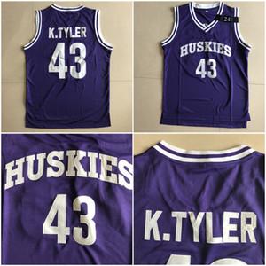 El sexto hombre de la película 43 Kenny Tyler Jersey Hombres perros esquimales Escuela de Baloncesto Marlon Wayans jerseys Universidad púrpura Deporte Uniforme