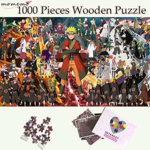 MOMEMO 전체 나루토 사람들 직소 퍼즐 1000 명 조각 나무 퍼즐 성인 장난감 주문을 받아서 나루토 나무 1000 조각 퍼즐 Y200421