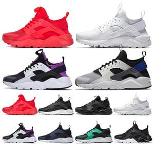 Новые nike air Huarache 1.0 кроссовки для мужчин, женщин 4.0 тройной черный белый серый модные дышащие мужские кроссовки спортивные кроссовки размер 36-45