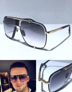 MACH Klasik Beş Güneş gözlüğü Erkekler Tasarımcı Metal Vintage Moda Stil Açık Gözlük Kare Kare UV 400 Lens Kutusu En Kalite