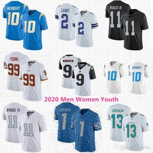 2020 Mens Womens Youth Joe Burrow Jeff Okudah Chase Young Justin Herbert Henry Ruggs III Tua Tagovailoa CeeDee Lamb KIDS Football Jerseys