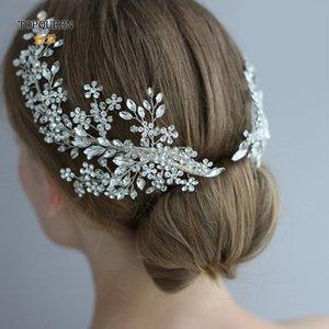 TOPQUEEN HP253 Luxury crystal wedding hair jewelry bridal accessories wedding hair vine clip wedding tiara Bridal headband