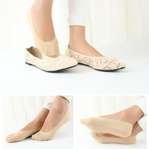 1 Pairs Soft Ice Low Cut Casual Loafer Boat Non-Slip Invisible No Show Lace Antiskid Invisible Short Ankle Socks Spring Summer