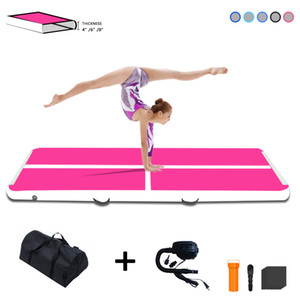 10ft * 39in * 4in Inflatable Gymbass Air Track Tumbling Mat Airtrack Mats for Home Use Electric Air Training Cheerleading