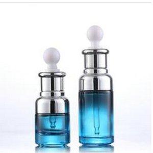 Moderato Prezzo 20ml 40ml di lusso di vetro contagocce unico siero bottiglia di colore blu con speciale contagocce