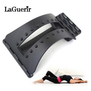 Camilla masaje de espalda aptitud Aparato de masaje Relax estiramiento Camilla Ayuda Lumbar Spine alivio del dolor quiropráctica Dropship