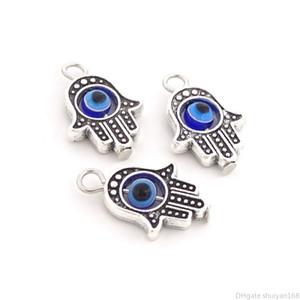 Pendentif mal des yeux Perles Charms Hamsa Plam Fatima main Lucky Charm Fit pour Bracelet Collier Bijoux bricolage Faire cadeau Accessoires